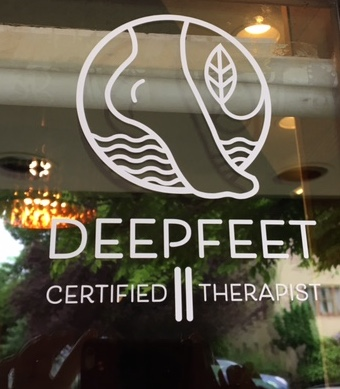 deepfeet bar therapy window decal